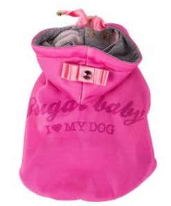 Sweatshirt-Crystal,-Pink I love my dog