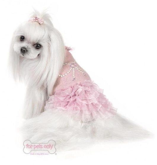 Vestito cani ribbon lace