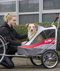 Carrello per bici trasporto cani