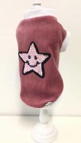 Felpa per cani Star rosa