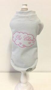 T-Shirt cani Chérie rosa