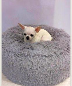 Pouf per cani grigio