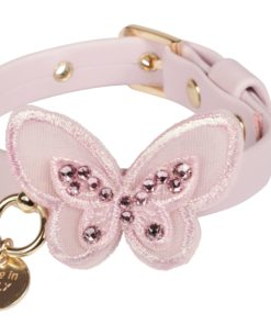 Collare cani Sweet Butterfly rosa baby