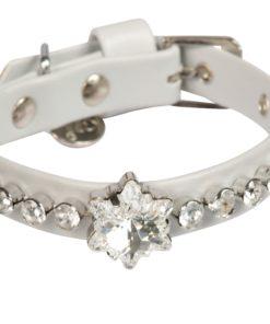Collare cani Edelweiss grigio perla