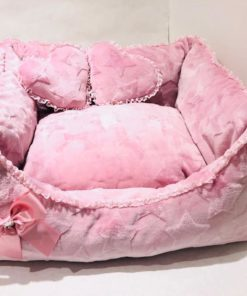 Cuccia per cani Star rosa