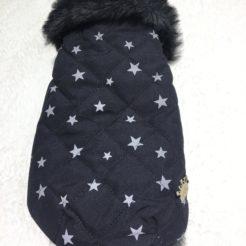 Piumino nero stelle chihuahua