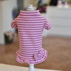 Vestito righe rosa 1