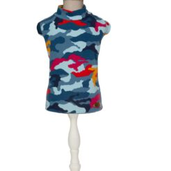 T-Shirt Camouflage in blue per cani