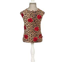 T-Shirt Leopard and rose per cani