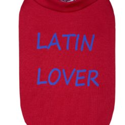 T-Shirt Latin Lover rosso per cani