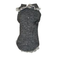 Maglione cani pizzo grigio